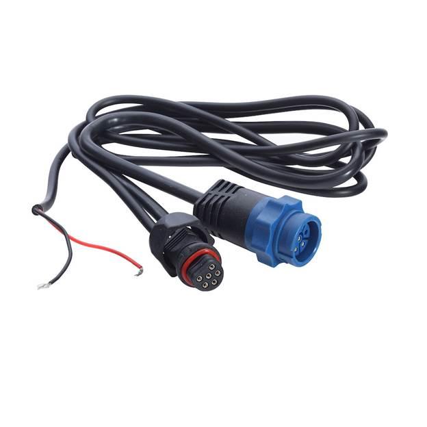 transducer adaptor cable, blue plug to uni-plug | accessory | lowrance usa
