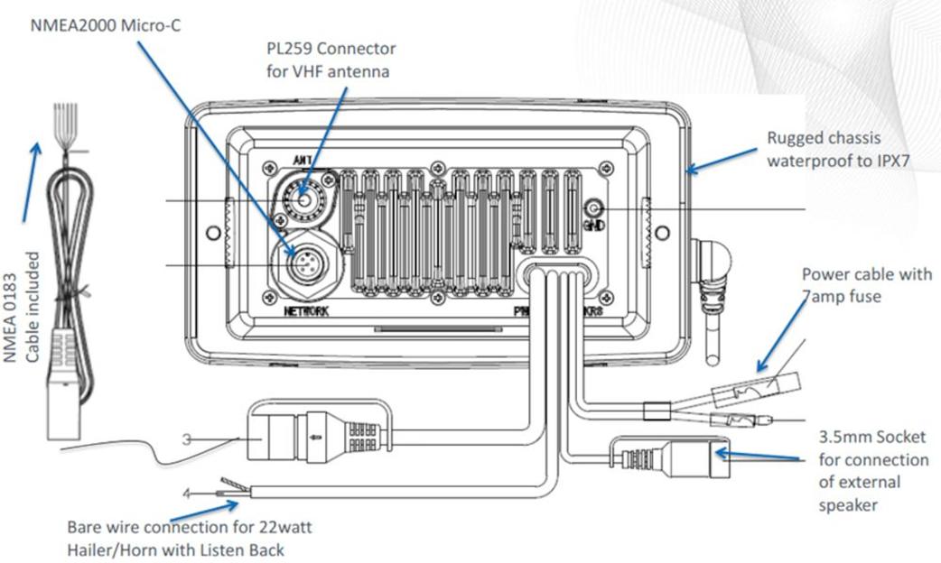 lowrance wiring schematic link 8 dsc vhf vhf ais lowrance lowrance usa  link 8 dsc vhf vhf ais lowrance