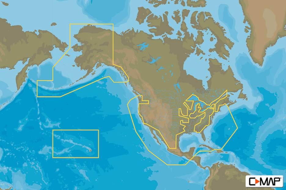 C-MAP MAX-N+ C: US COASTAL-RIVERS CONTL