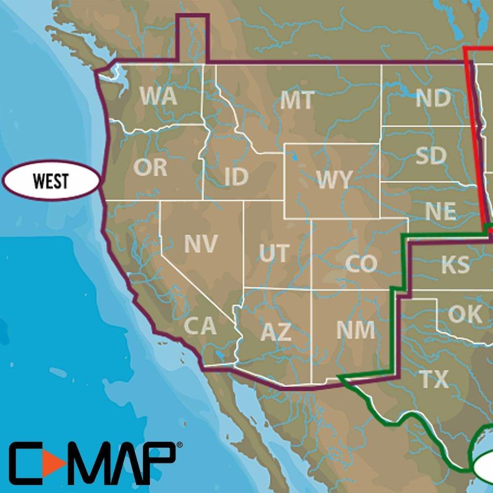 Lowrance C-MAP Lake Insight HD centrale du Sud nous aspect Traditionnel de Papier Cartes