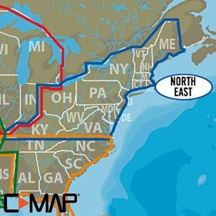C-MAP (Lake Insight HD): North East US | Lowrance USA