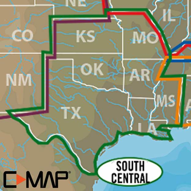C-MAP (Lake Insight HD): South Central US