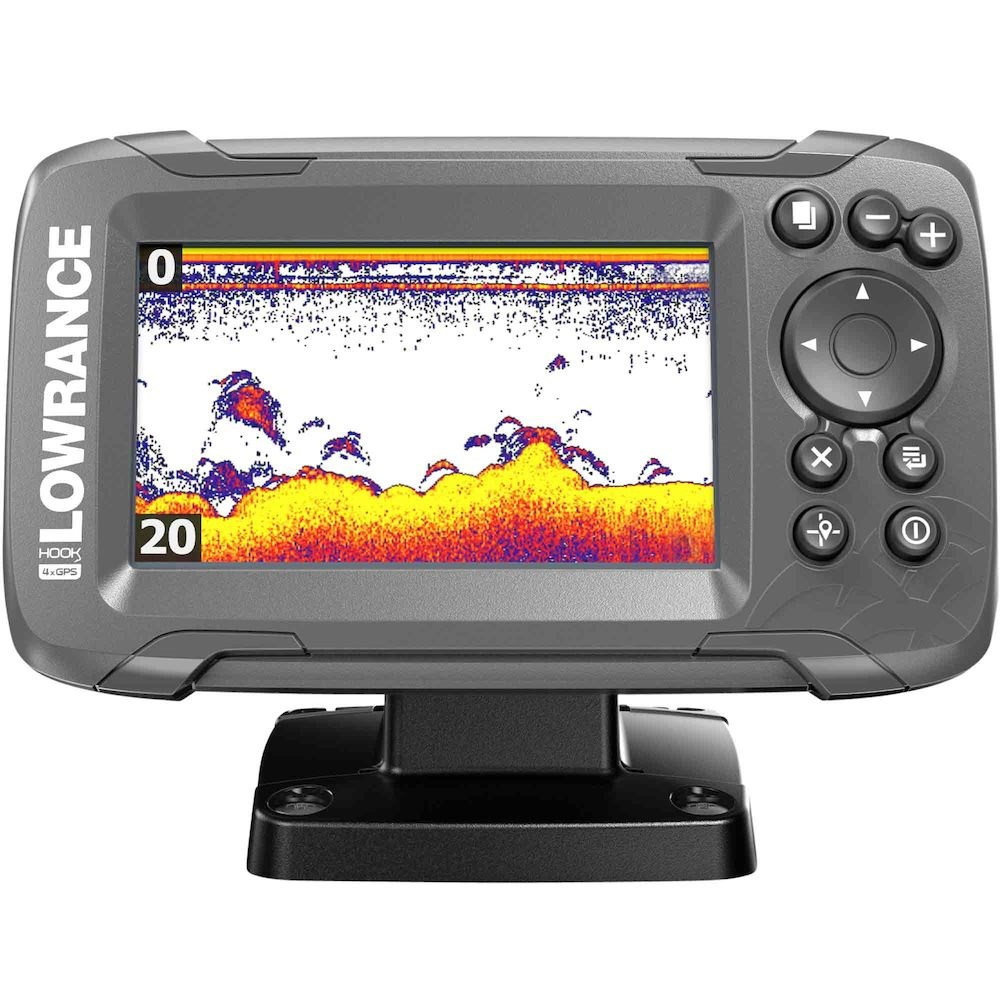 Lowrance HOOK2-4x Fish Finder with Bullet Transducer and GPS Plotter