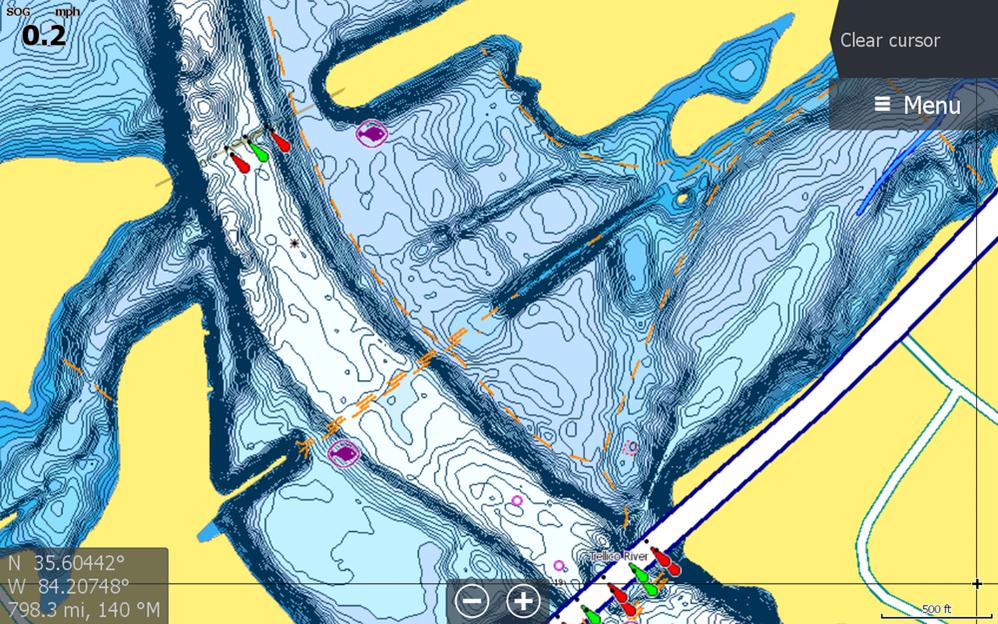 C-MAP Precision Contour HD - Tennessee