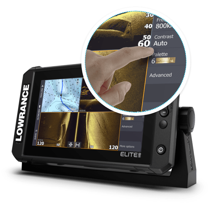 Lowrance Elite FS - high res multitouch