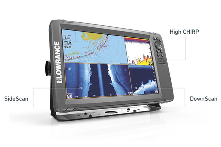 Lowrance Hook 2 5x GPS HDI with donor Splitshot Fish Finder Sonar